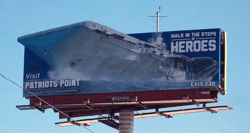 Patriot's Point Billboard