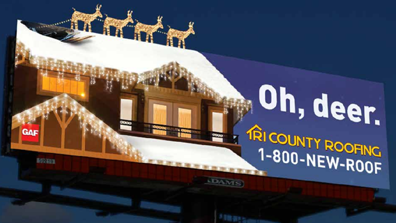 Tri County Roofing Billboard