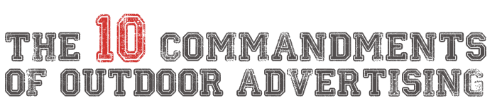 10 commandments of outdoor advertising